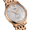 Montre T-Classic Tradition Automatic Small Second cadran argent bracelet acier PVD or rose 40 mm