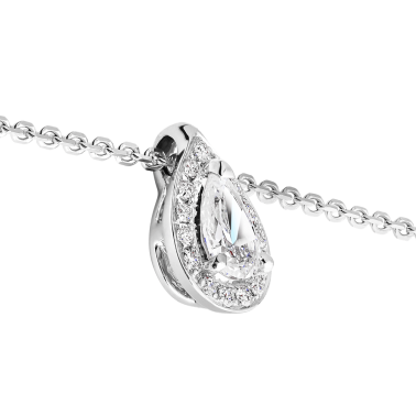 Collier Lepage Marceau en or blanc diamants