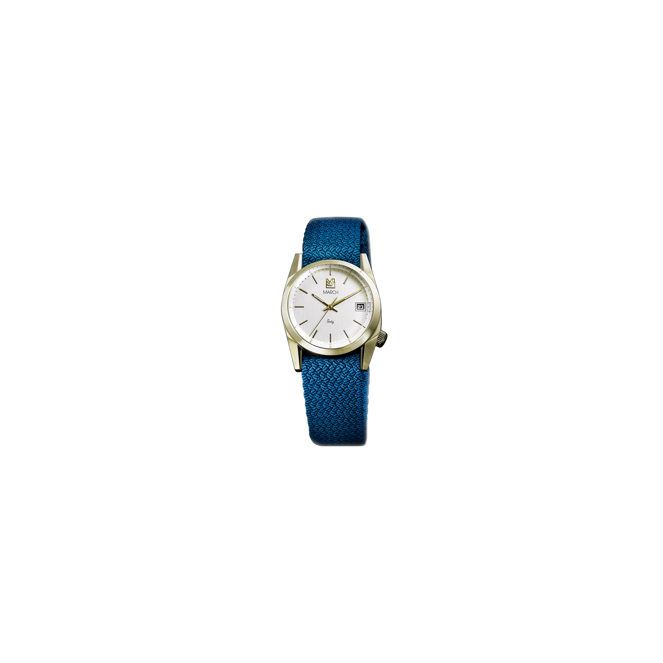 Montre March LA.B Sixty 5 Electric bracelet NATO Perlon Azur 32 mm
