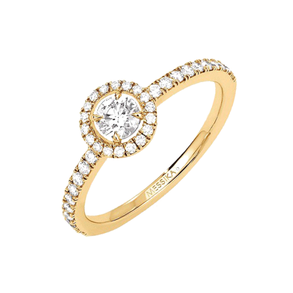 Bague Messika Joy en or jaune et diamant rond 0,25 carat