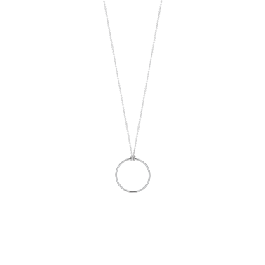 Collier Ginette NY Mini Circle or blanc