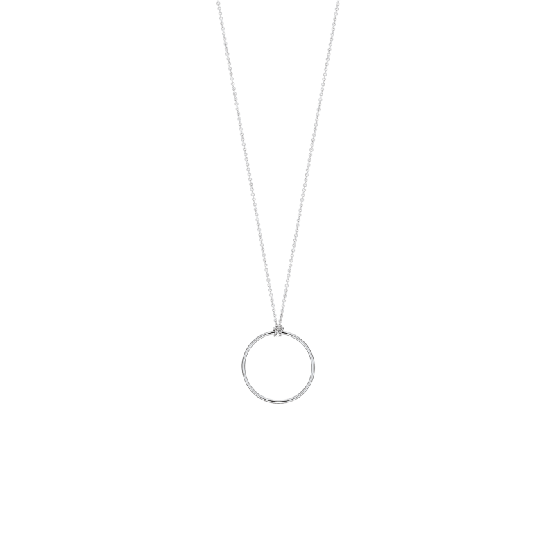 Collier Ginette NY Mini Circle en or blanc - Soldat