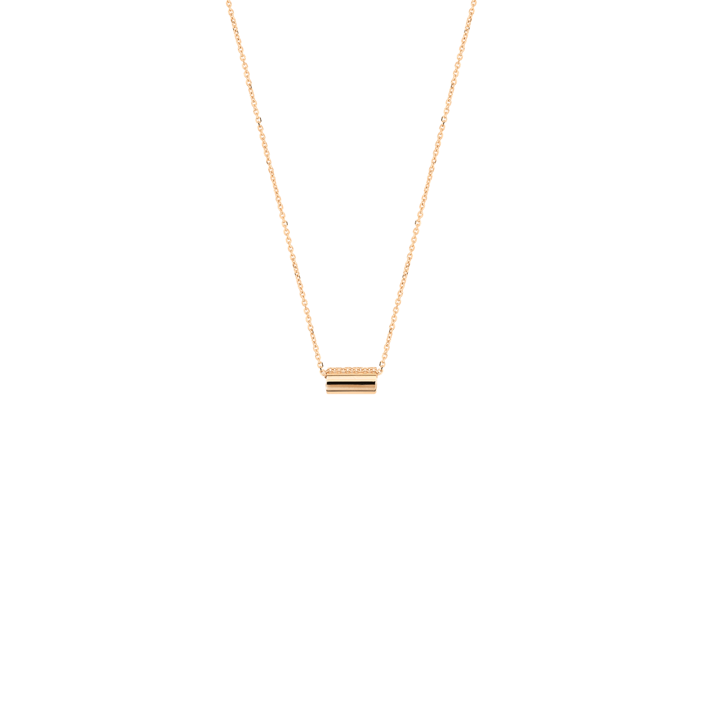 Collier Ginette NY Mini Straw en or rose, Ginette NY - Lepage