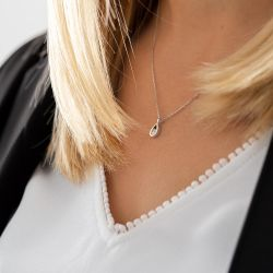 Collier Lepage Clyde en or rose et diamant