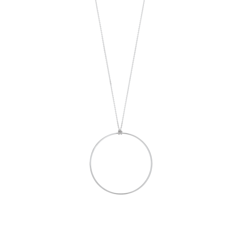 Collier Ginette NY Circle en or blanc