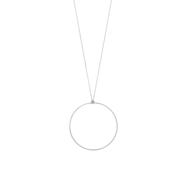 Collier Ginette NY Circle en or blanc - Soldat