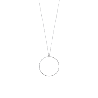 Collier Ginette NY Baby Circle en or blanc