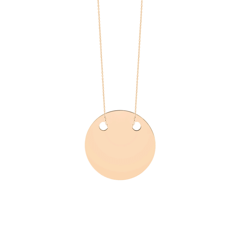 Collier Ginette NY Baby Disc On Chain en or rose