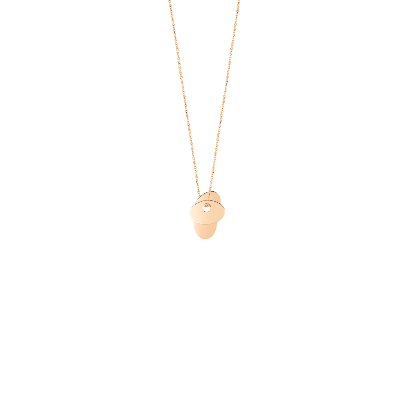 Collier Ginette NY Trois Sequins en or rose, collier Ginette - Lepage