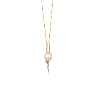 Collier Ginette NY Perle Solitaire en or rose