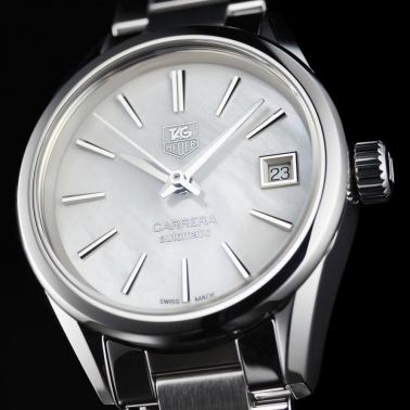 Montre TAG Heuer Carrera Ladies Calibre 9 cadran nacre bracelet acier 28 mm - SITE1