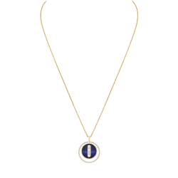 Collier Messika Lucky Move moyen modèle en or jaune lapis lazuli et diamants