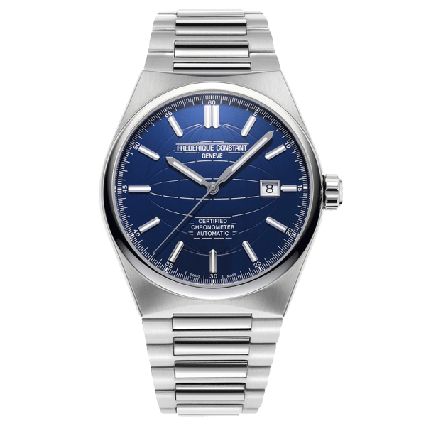 Frédérique Constant Highlife COSC watch blue dial stainless steel bracelet 41 mm