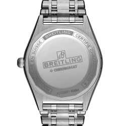 Breitling Chronomat Lady Automatic watch white dial 36 mm diamond indexes