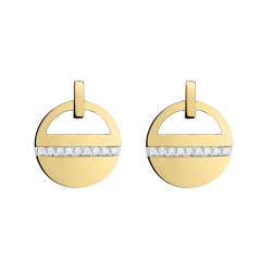 Earrings Les Poinconneurs Luz in yellow white gold and diamonds