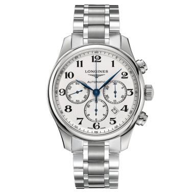 Montre Longines Master Collection chronographe automatique bracelet acier 44 mm - SOLDAT PL