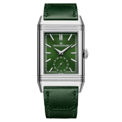 Jaeger-LeCoultre Reverso Tribute Monoface Small Seconds watch hand-winding green dial green leather strap