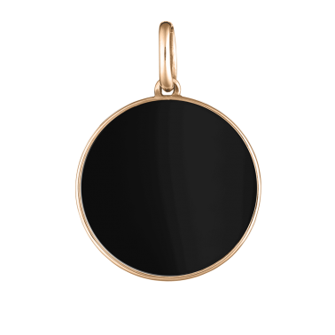 Lepage Colette Lune medal pink gold and onyx