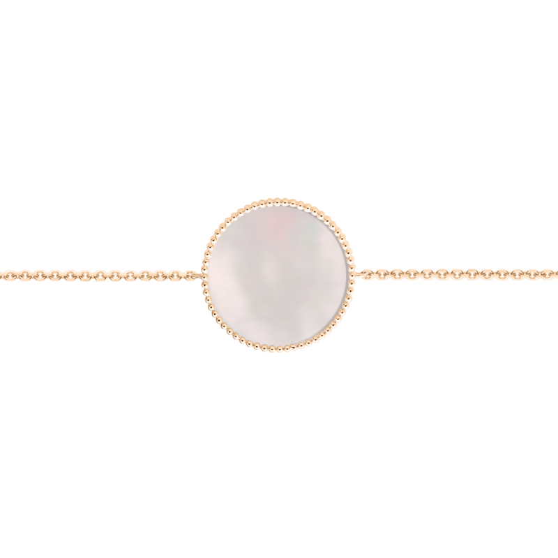 Bracelet Lepage Colette Lune Perlée pink gold and pink mother of pearl