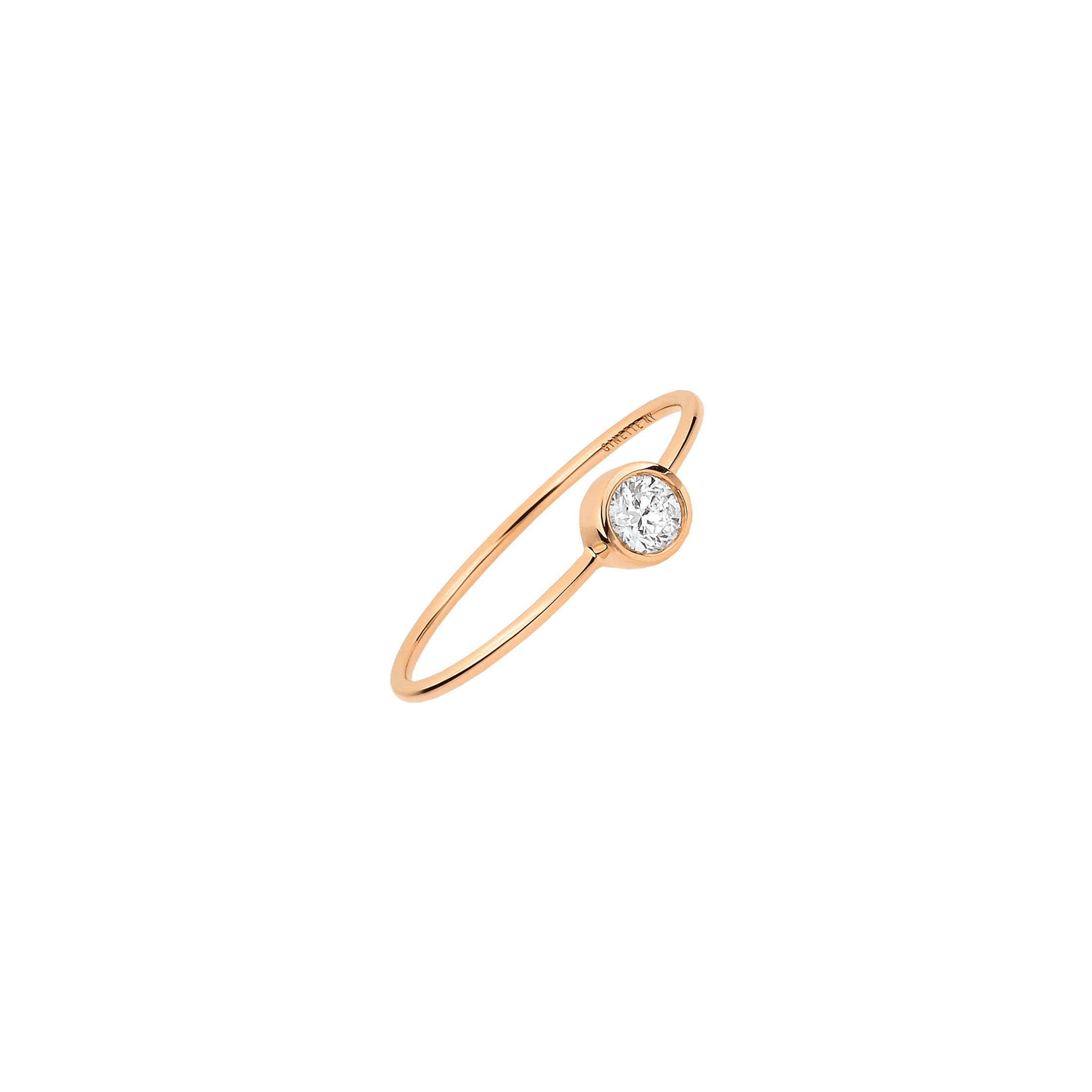 Bague Ginette NY Lonely Diamonds large en or rose