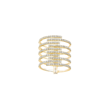 Bague Messika Gatsby 10 rangs en or jaune et diamants - Top