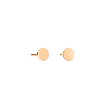 Boucles d'oreilles Ginette NY Mini Ever Disc or rose