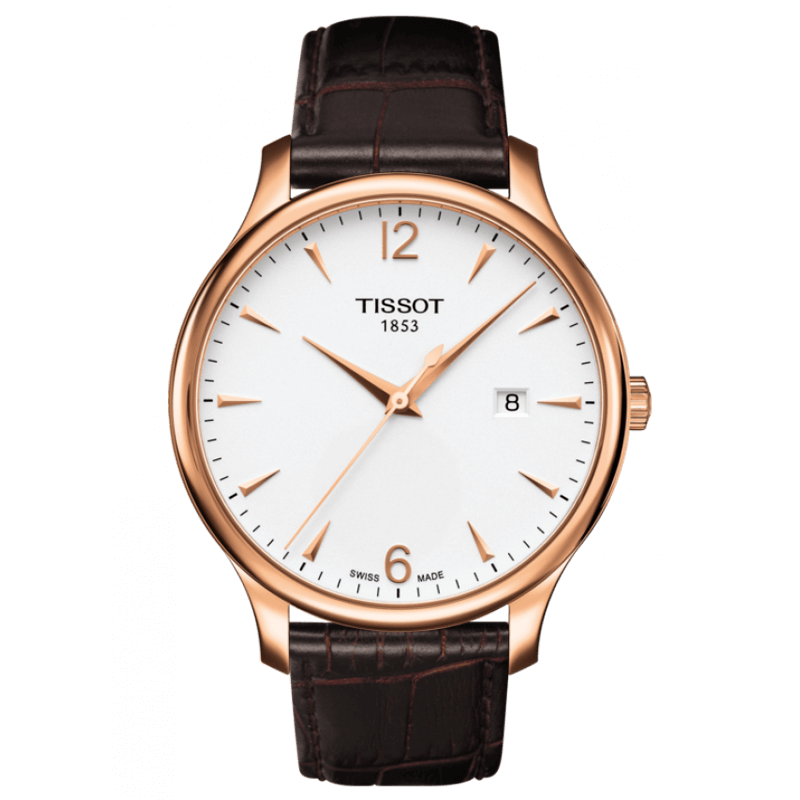 Montre Tissot T-Classic Tradition cuir chocolat T0636103603700 - Lepage