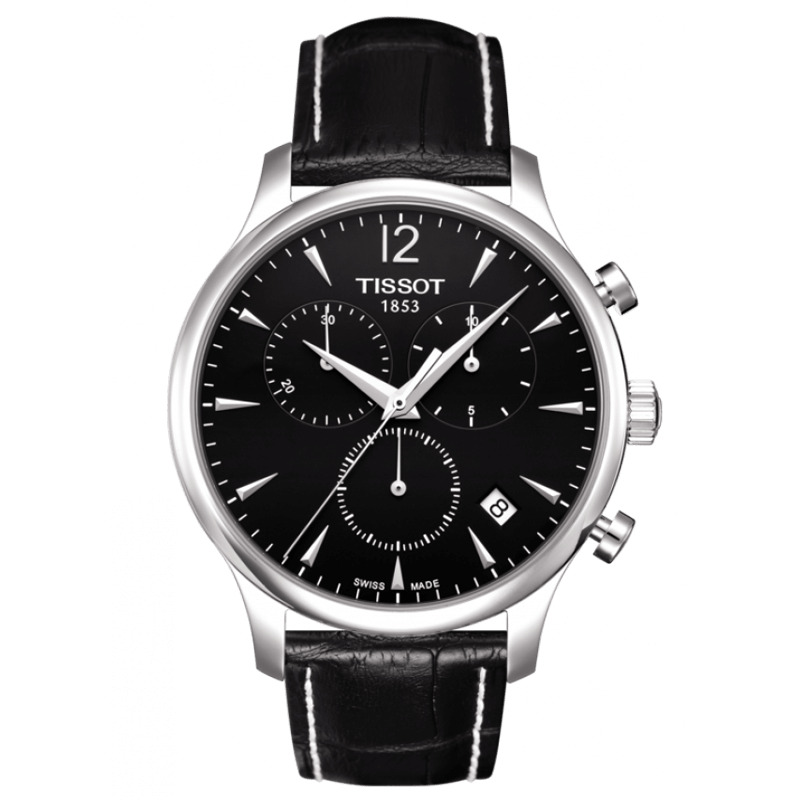 Montre Tissot Tradition Chronographe noir T0636171605700 - Lepage