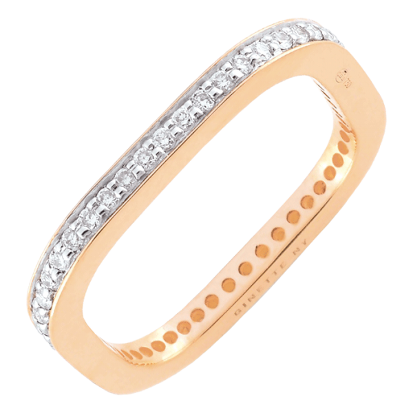 Bague Ginette NY Diamond TV en or rose et diamants