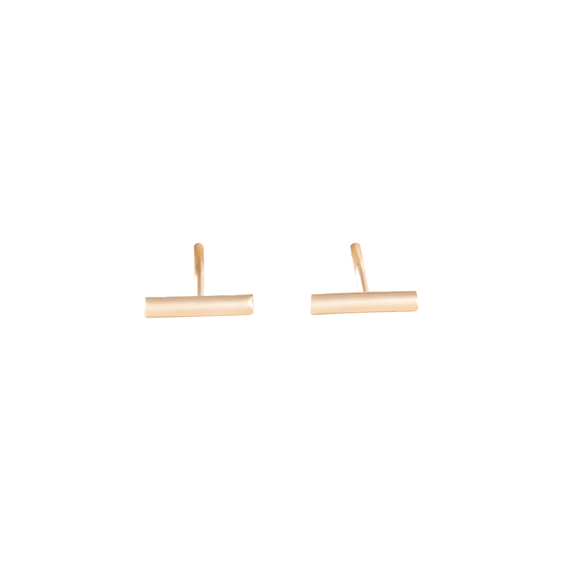 Boucles d'oreilles Ginette NY Gold Strip en or rose