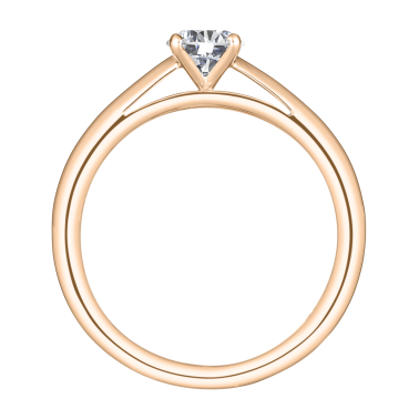 Solitaire Lepage Promesse en or rose diamant brillant