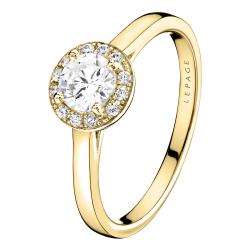 Solitaire Lepage Jolie-Coquette en or jaune diamants