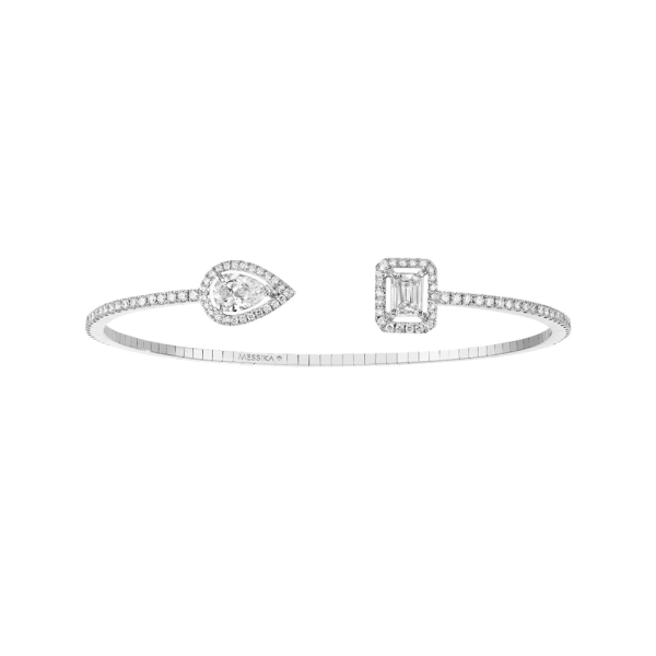 Bracelet Messika My Twin Skinny Toi & Moi en or blanc et diamants 0,80 carat