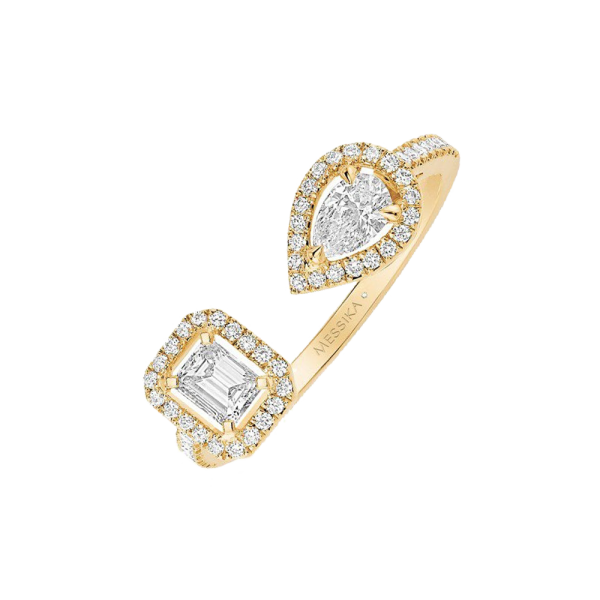 ac7da131a3b1d Bague Messika My Twin Toi & Moi en or jaune et diamants 0,15 carat