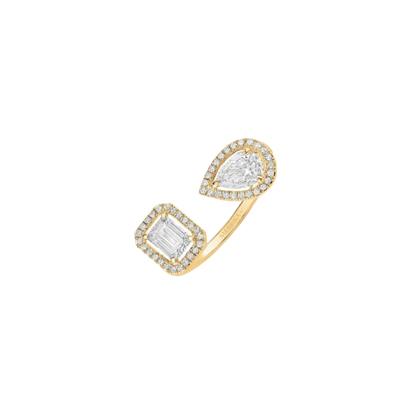 d02c5950bc2ba Bague Messika My Twin Toi & Moi en or jaune et diamants 0,40 carat