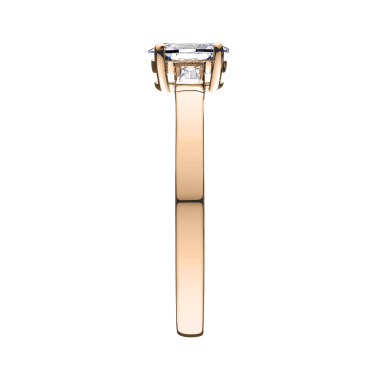 Solitaire Lepage Ernest en or rose diamants