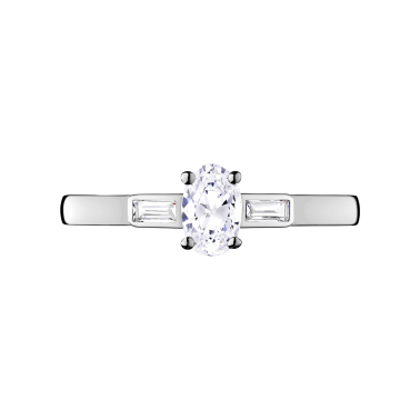 Solitaire Lepage Ernest en or blanc diamants