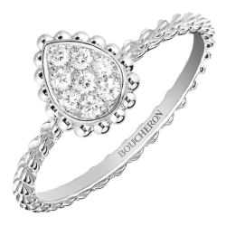 Bague Boucheron Serpent Bohème motif XS en or blanc et diamants