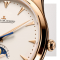Montre Jaeger-LeCoultre Master Ultra Thin Moon automatique cadran beige bracelet cuir d'alligator noir 39 mm