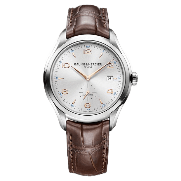 Baume et Mercier Clifton Automatique Bracelet cuir chocolat